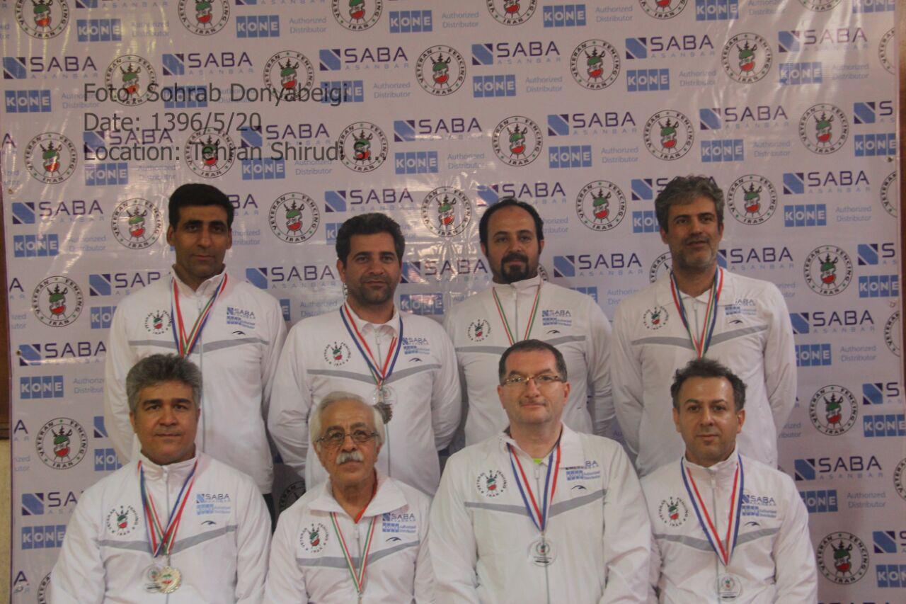 کسب مقام قهرمانی تیم سبا آسانبر با کسب شش مدال در مسابقات قهرمانی شمشیربازی